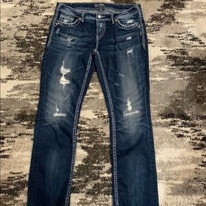 Silver Jeans Distressed